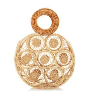Cult Gaia - Straw Circle Bag